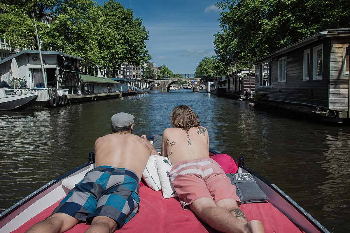 Explore Amsterdam by water.